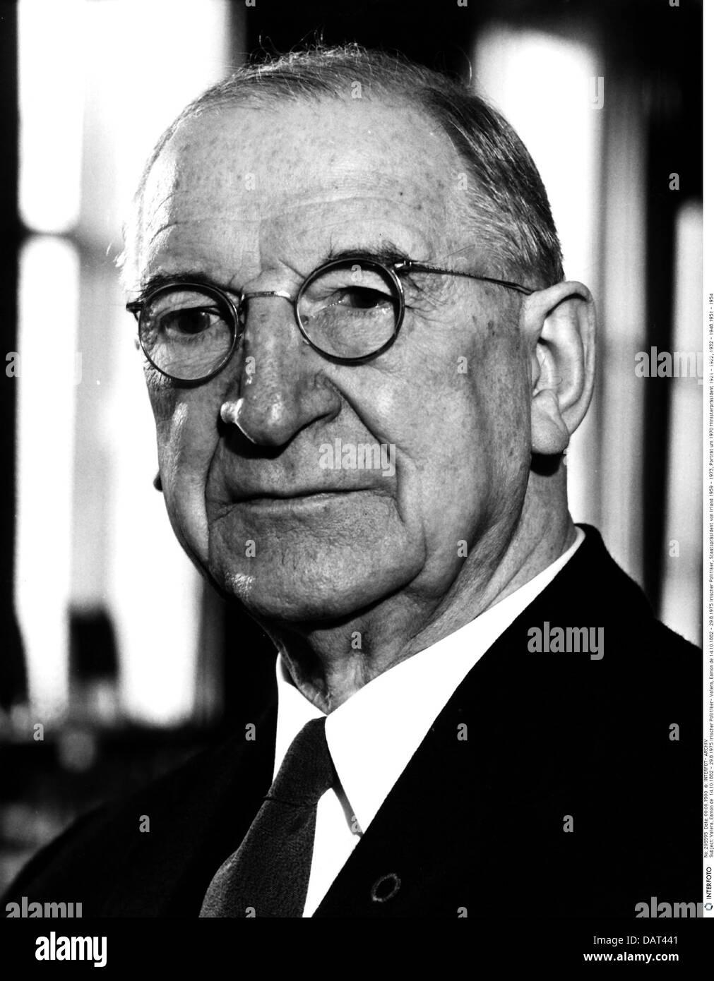 Valera, Eamon de, 14.10.1882 - 29.8.1975, politico irlandese, ritratto, 1960s, 60s, politico, , Foto Stock