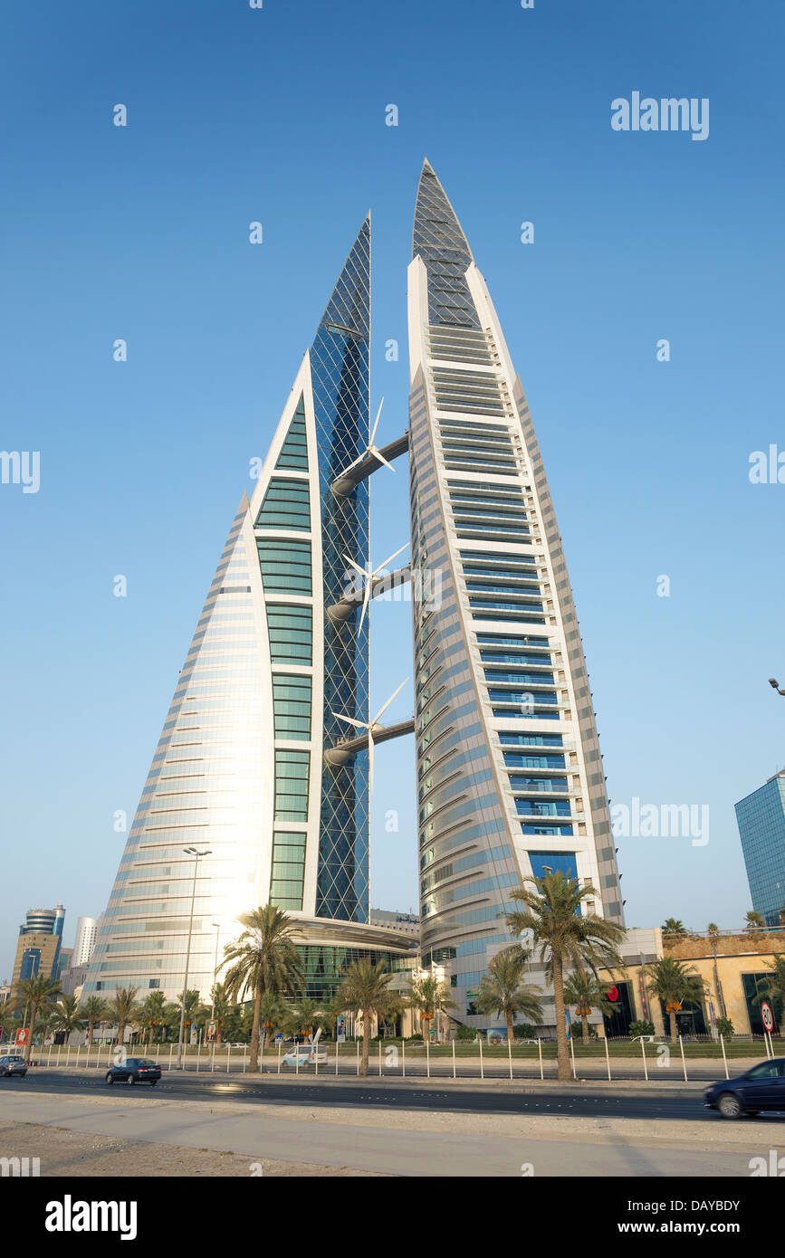 World Trade Center in Manama Bahrain Immagini Stock
