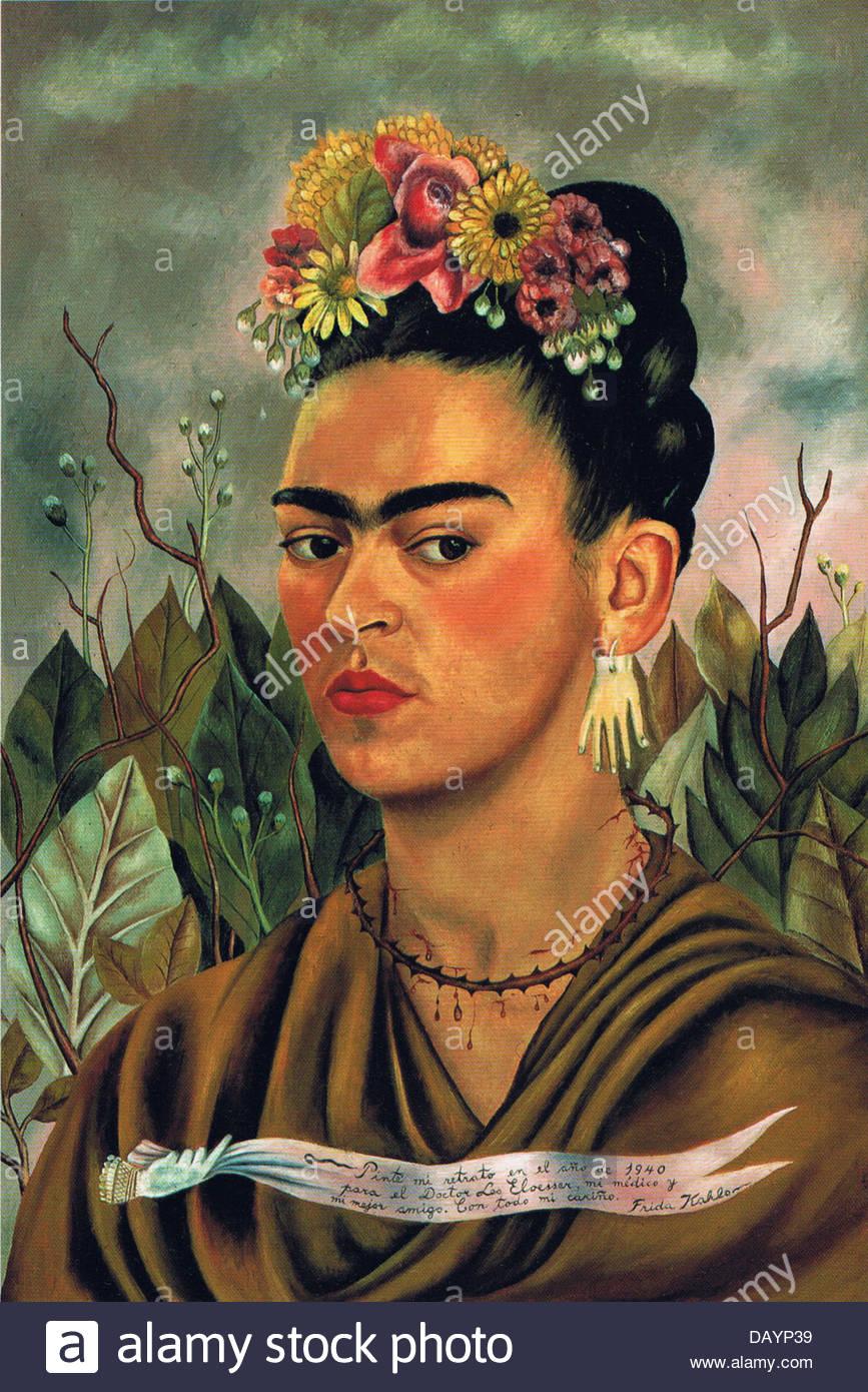 Frida Kahlo Self-portrait 1940 Immagini Stock