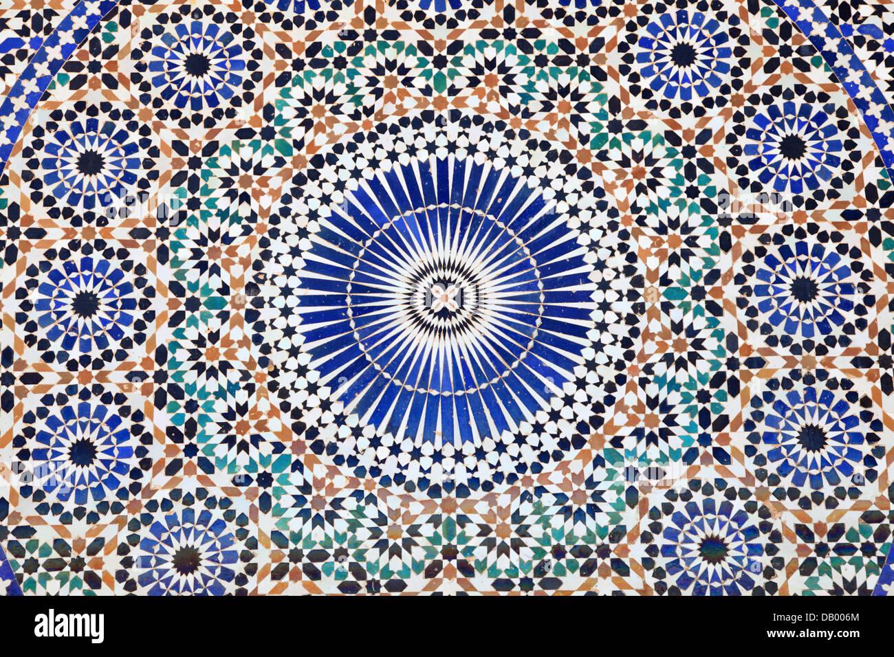 Mosaico orientali in marocco africa del nord foto & immagine stock