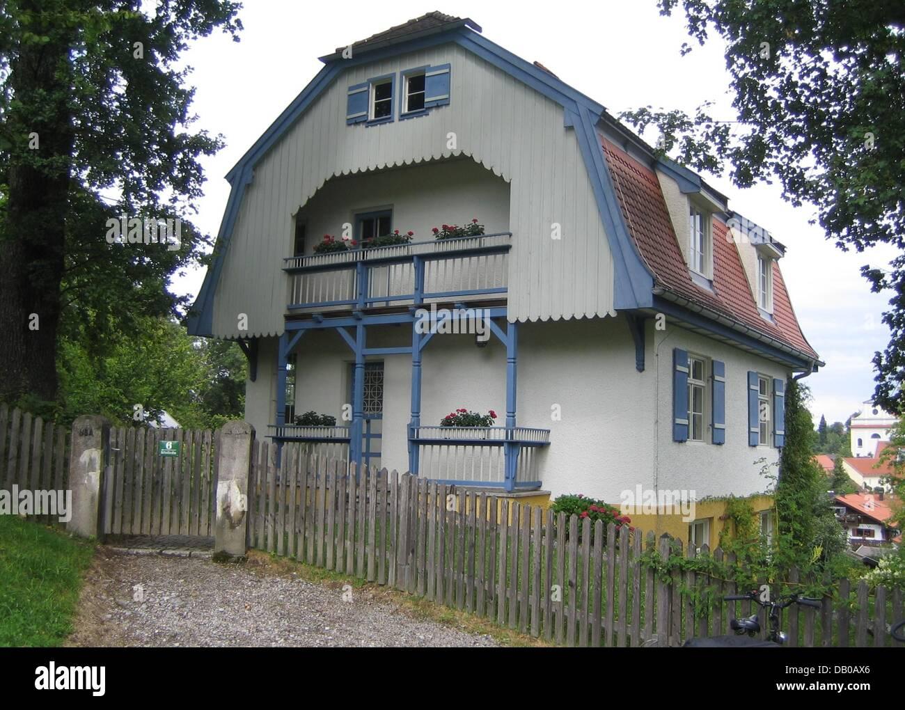 La foto mostra la casa Muenter a Murnau, Germania, 22 luglio 2007. Dal 1909 al 1914 Gabriele Muenter (1877-1962) Immagini Stock