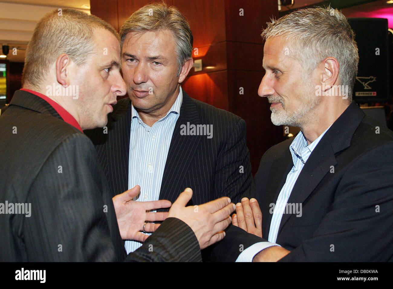 Attore Dominique Horwitz (L-R), di Berlino che disciplinano il sindaco Klaus Wowereit e il suo partner Joern Kubicki Immagini Stock