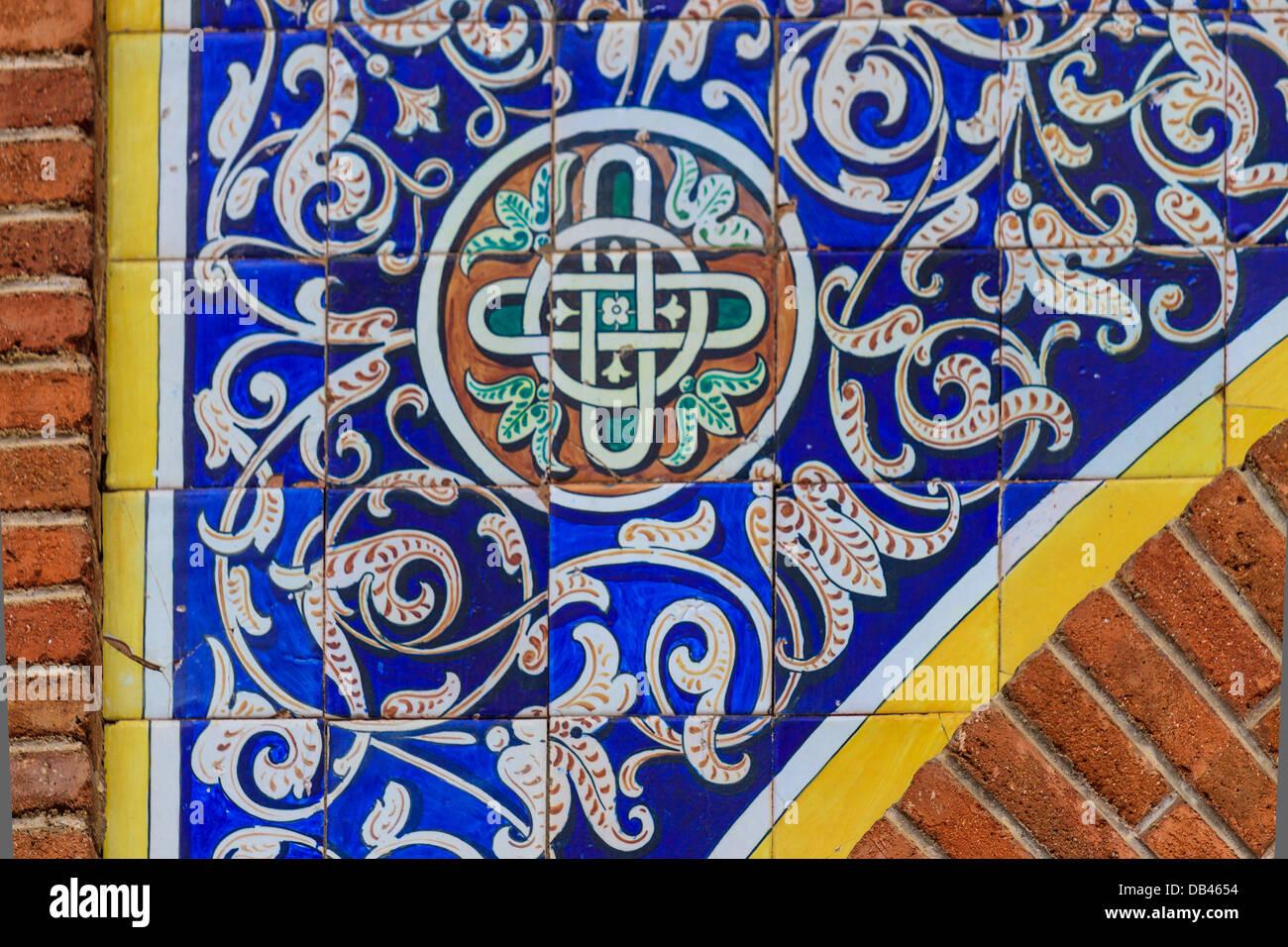 Ornamentali piastrella orientali dettagli architettonici spagna