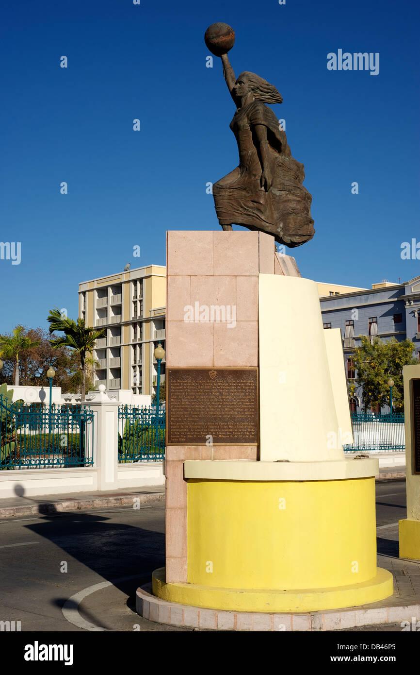 Monumento a la Mujer, Ponce, Puerto Rico. Immagini Stock