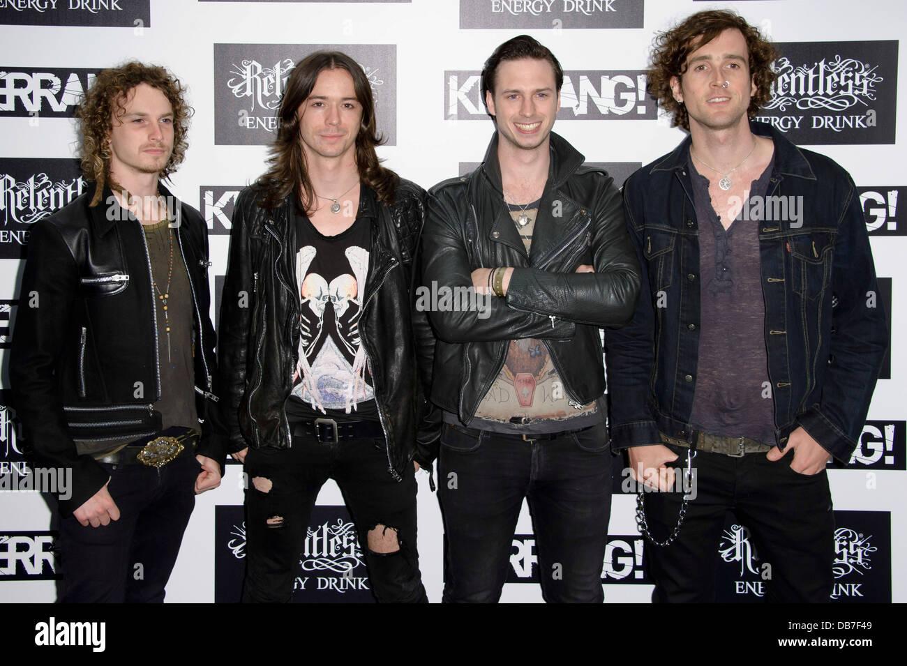 Del Cielo arrivano nel seminterrato di Kerrang! Awards 2013, Londra, Giovedì, Giugno. 13, 2013. Immagini Stock