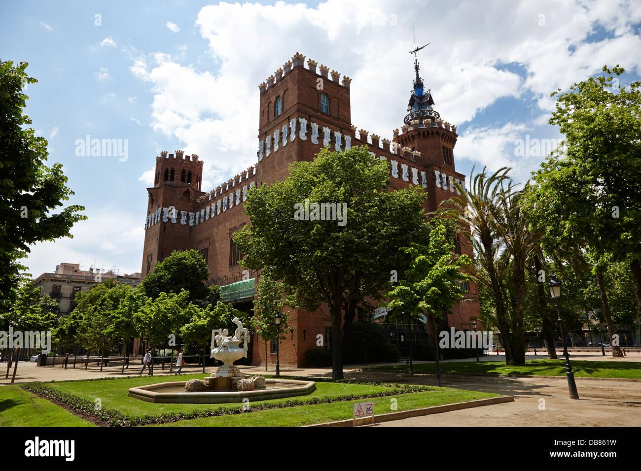 Zoologia museo di scienza naturale Castell dels tres dragons Parc de la Ciutadella Barcellona Catalonia Spagna Immagini Stock