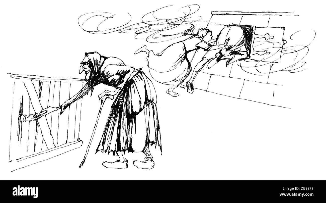 Hansel Gretel Drawing Immagini Hansel Gretel Drawing Fotos Stock