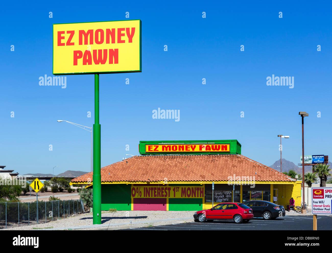 EZ denaro pedina negozio in Tucson, Arizona, Stati Uniti d'America Immagini Stock