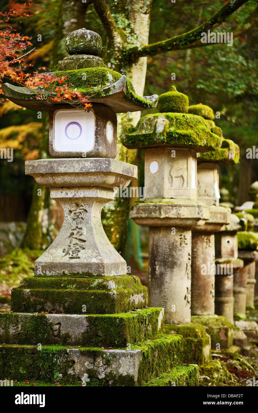 Nara, Giappone lanterne Immagini Stock