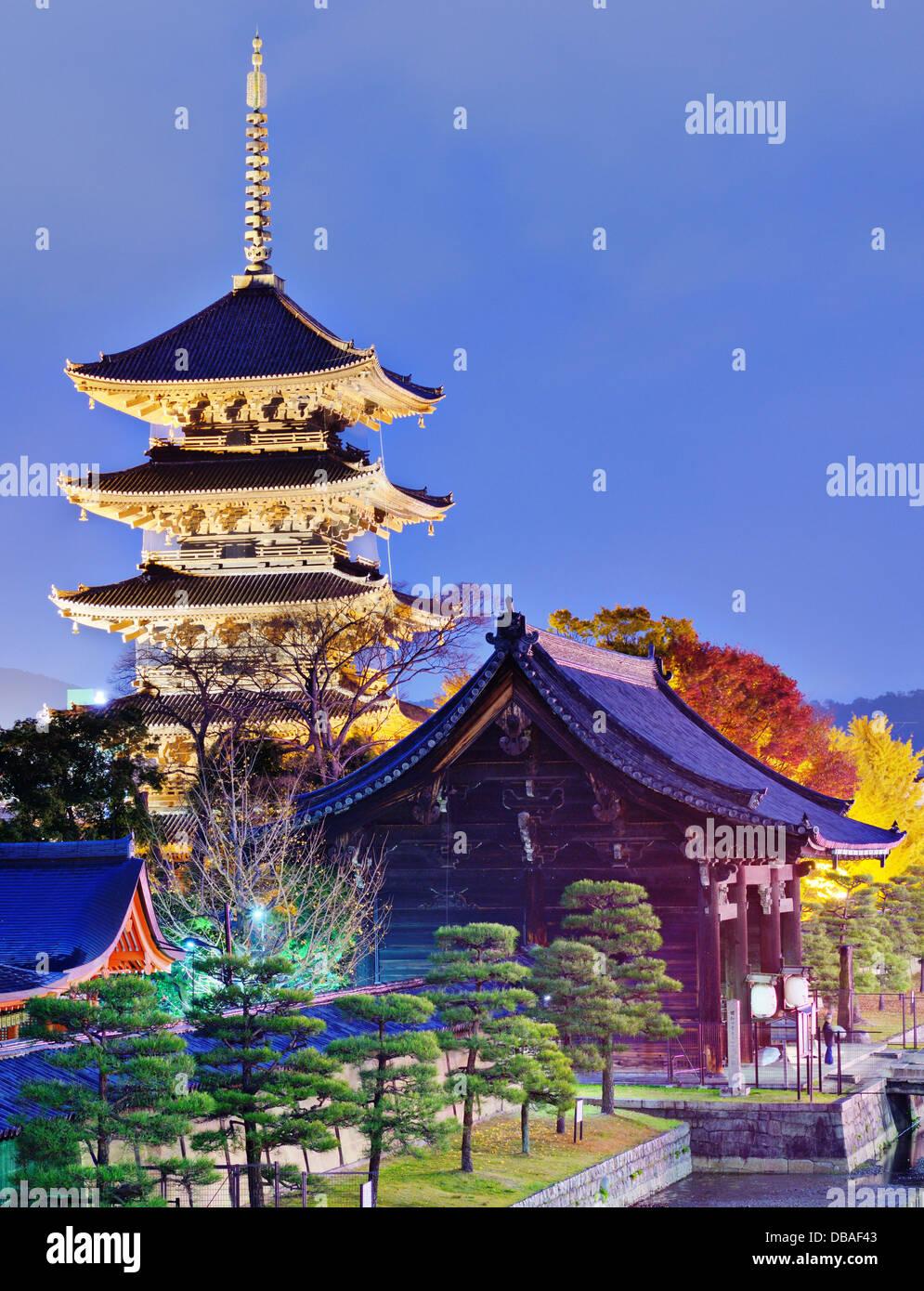 Toji Pagoda in Kotyo, Giappone. Immagini Stock