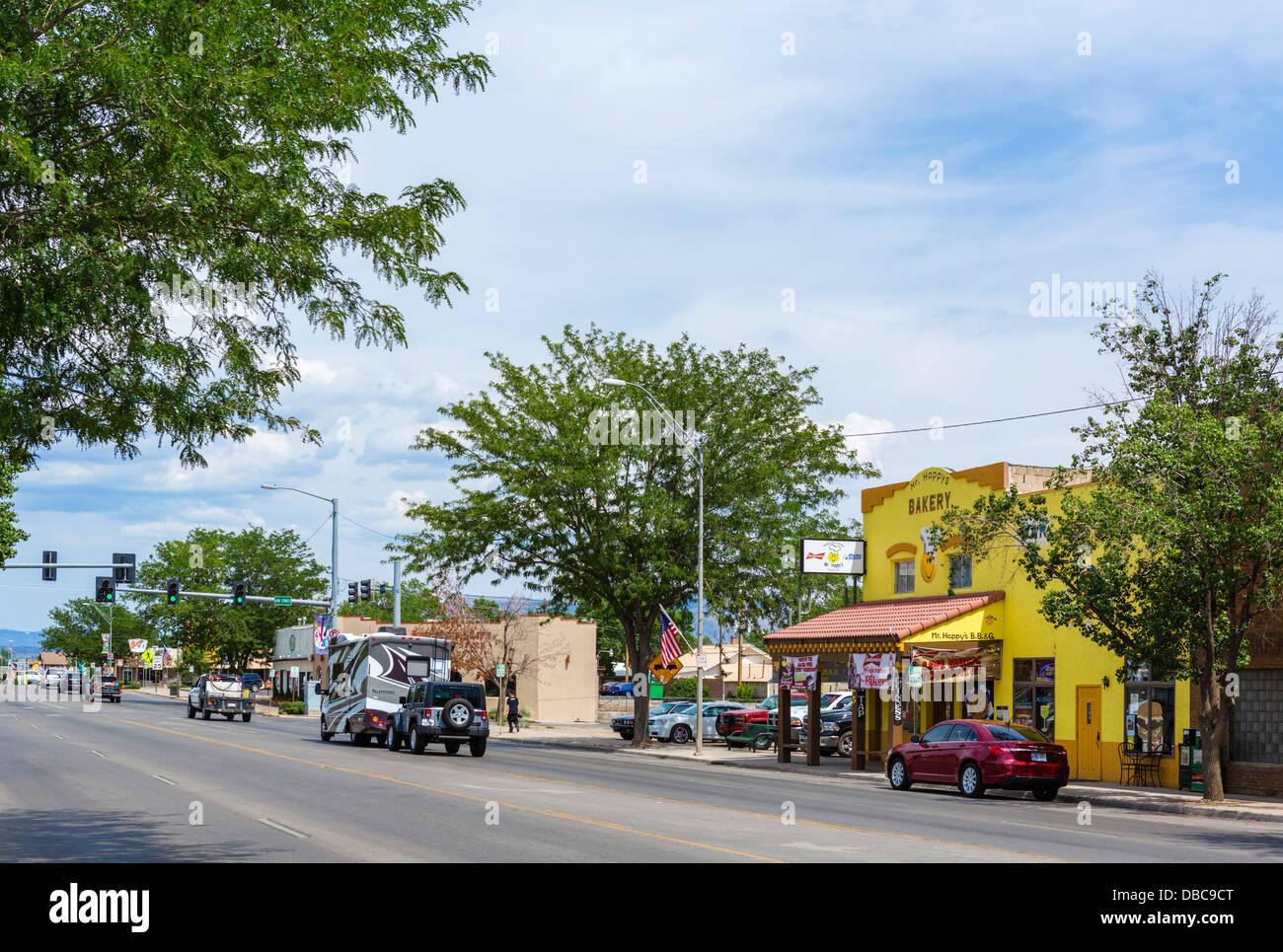 Strada principale di Cortez, Colorado, STATI UNITI D'AMERICA Immagini Stock