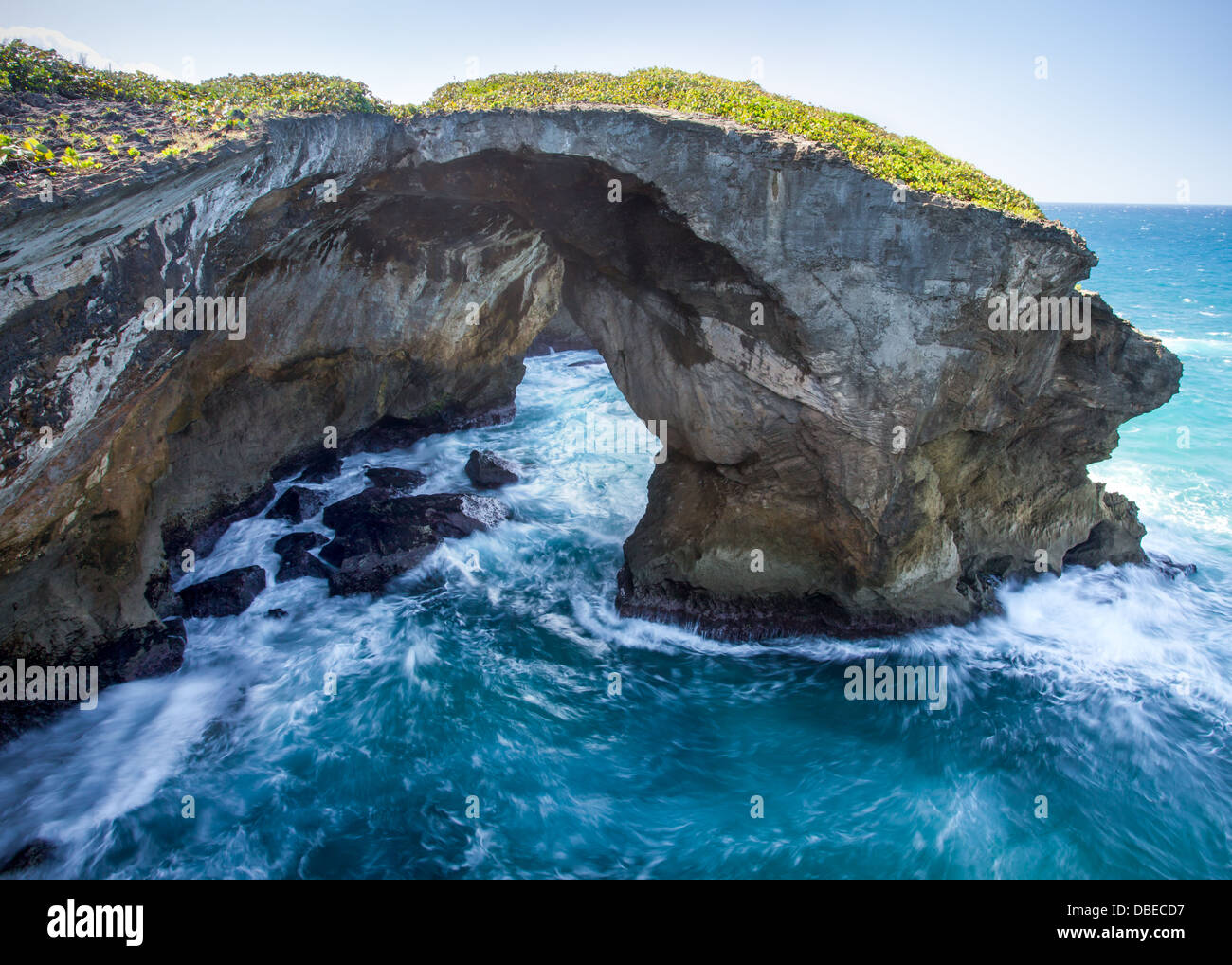 Los Arcos de la Frontera spiaggia nei pressi di Arecibo, puerto rico. Immagini Stock