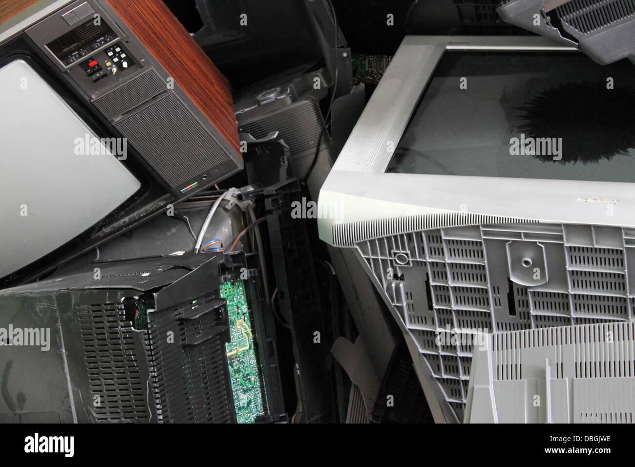 Rifiuti elettronici Immagini Stock