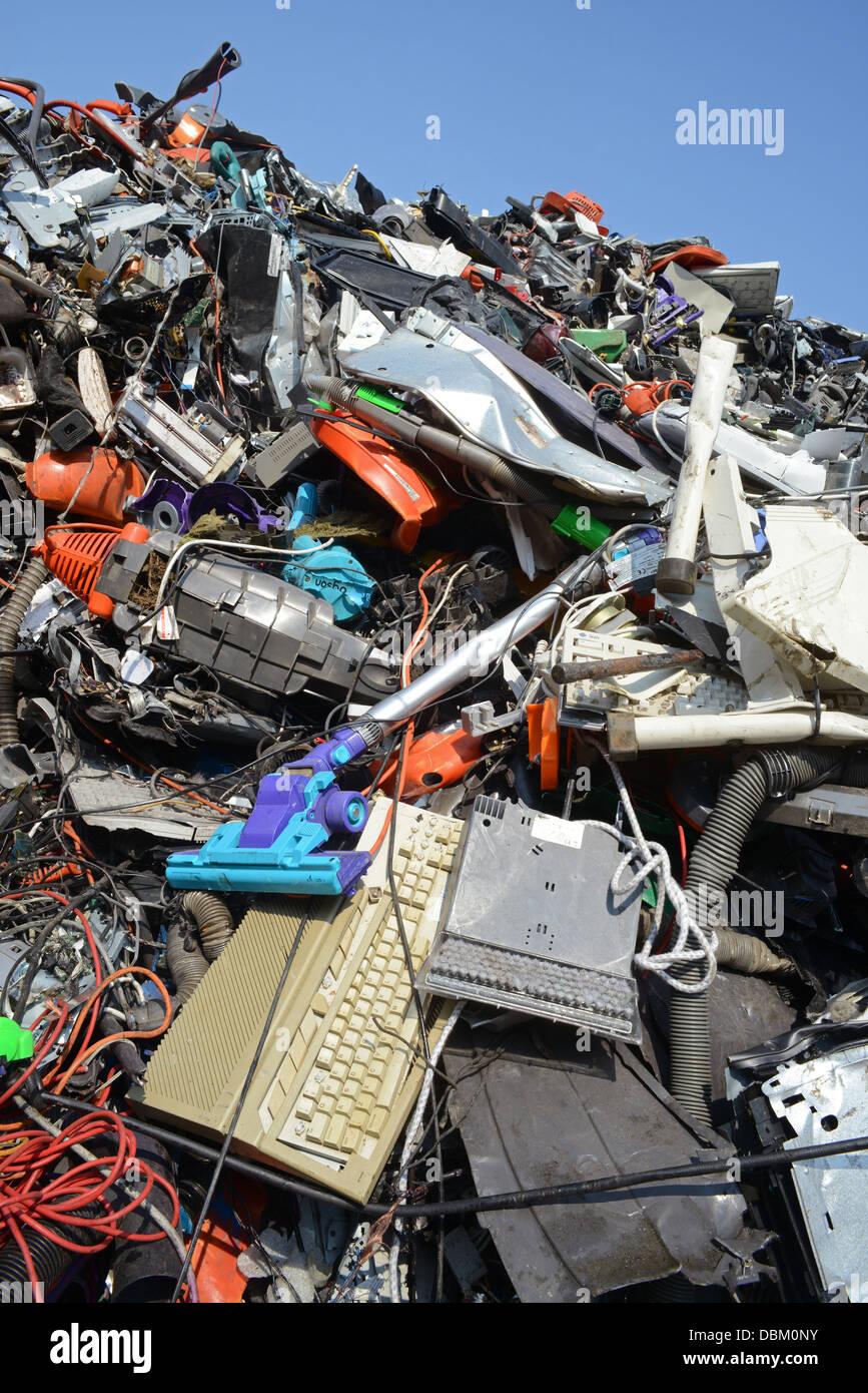 Smaltimento dei RAEE rifiuti di apparecchiature elettriche ed elettroniche regno unito Immagini Stock