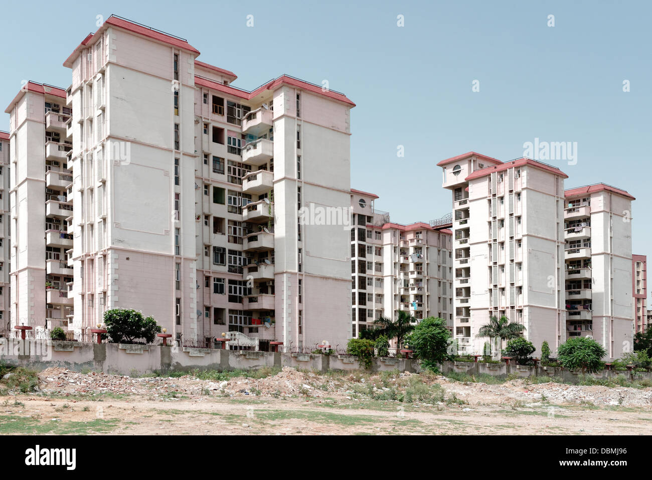 Condominio moderno sviluppo di alloggiamento di espansione Gurgaon, settore 55 Immagini Stock