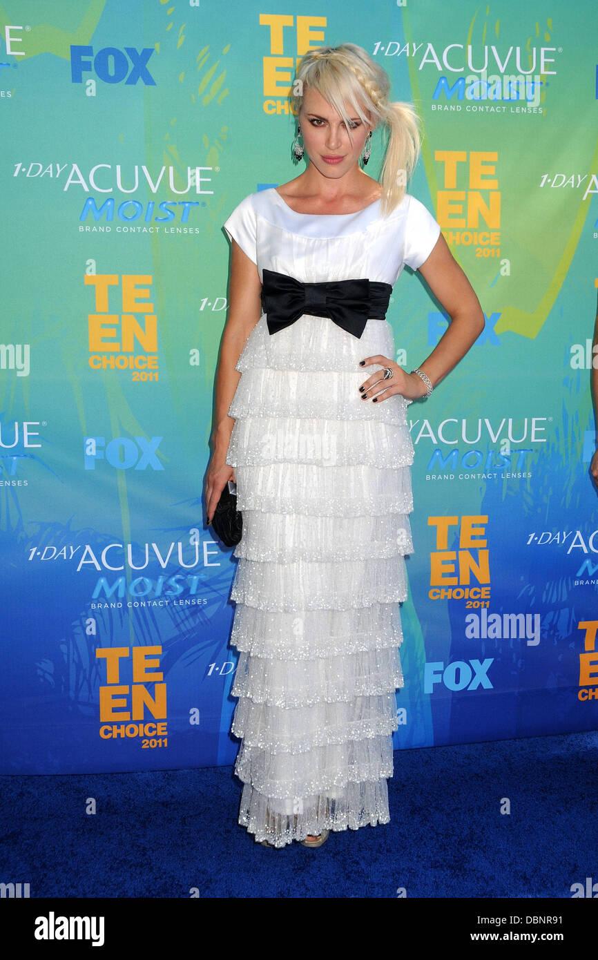 Aria Crescendo 2011 Teen Choice Awards tenutosi al Gibson Anfiteatro - Arrivi CITTÀ UNIVERSALE, California Immagini Stock