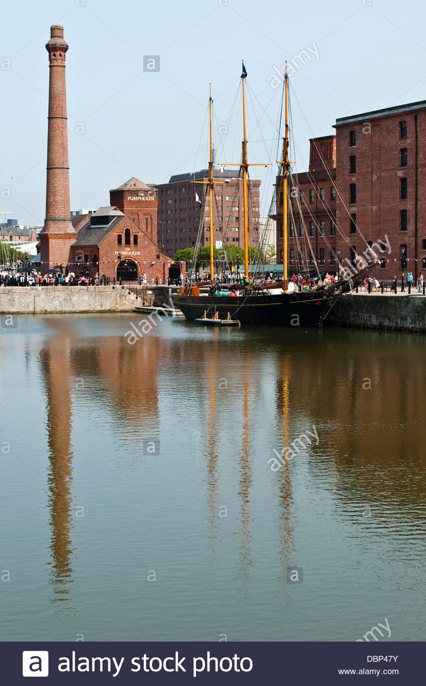 Casa della pompa, astuzia Dock, Liverpool, Regno Unito Immagini Stock