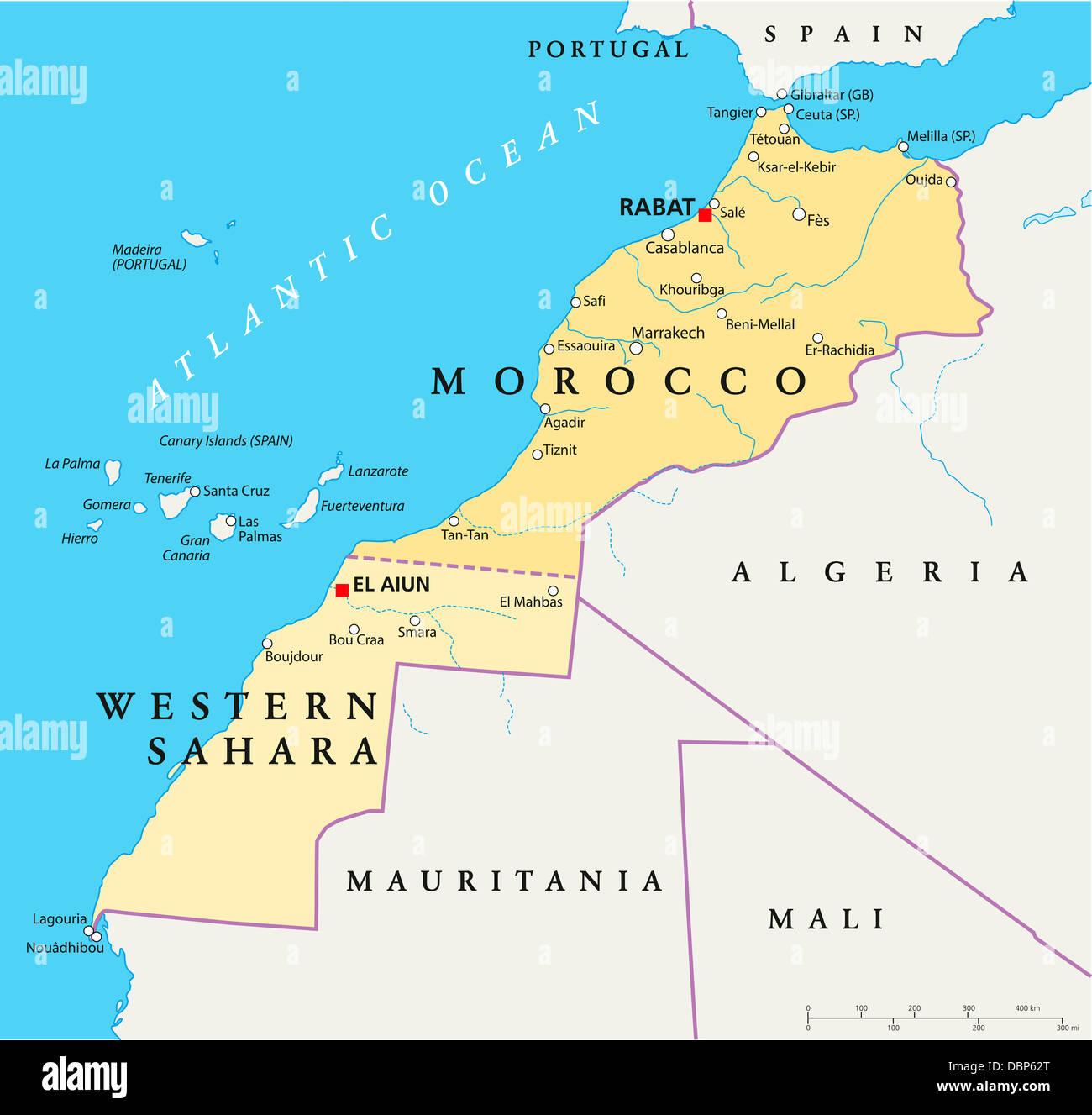 Fuerteventura Cartina Spagna