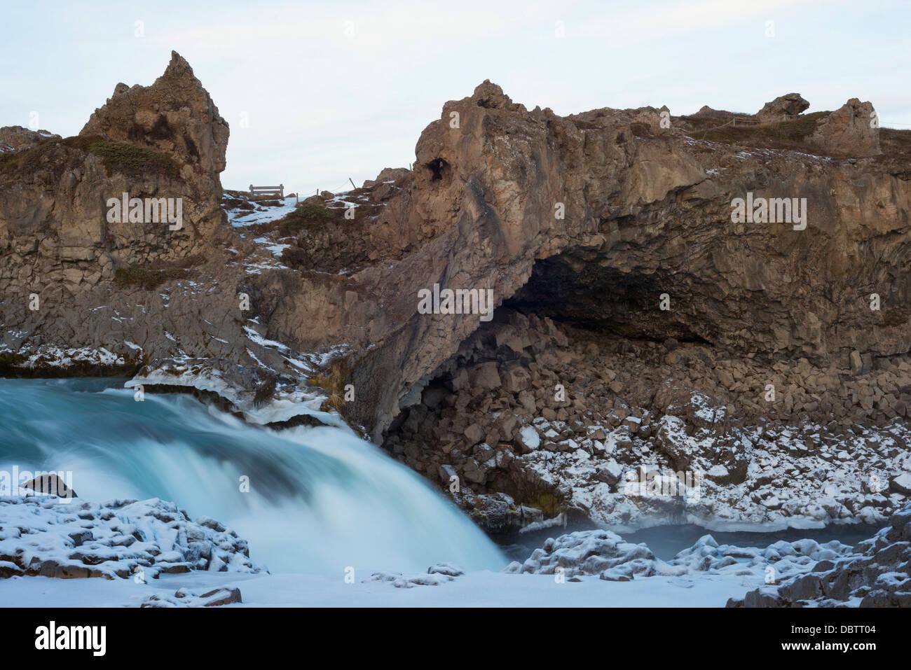 Cascate Godafoss, Islanda, regioni polari Immagini Stock