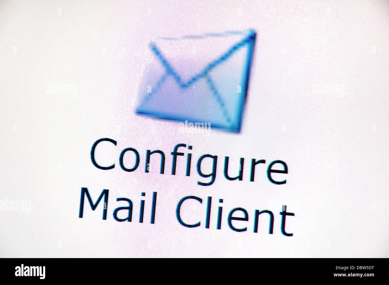 Screenshot del Computer - Internet. La posta elettronica Immagini Stock