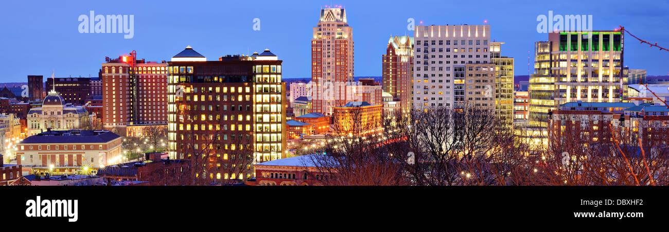 Panorama del centro di Providence, Rhode Island. Immagini Stock