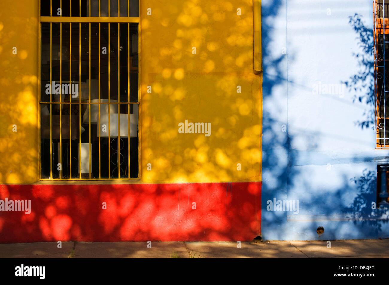 Barrio Bellavista, Santiago del Cile Immagini Stock