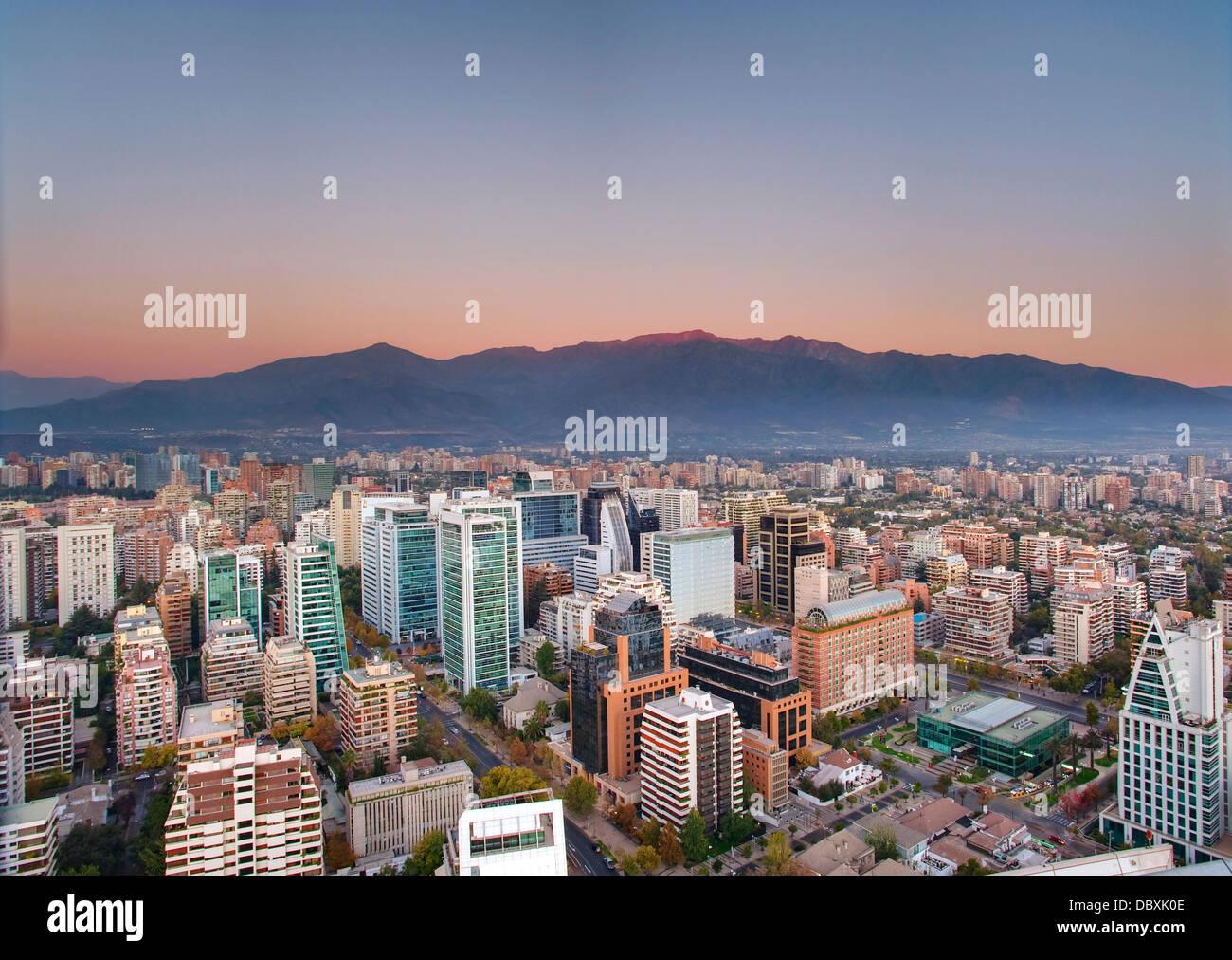 Santiago del Cile skyline Immagini Stock