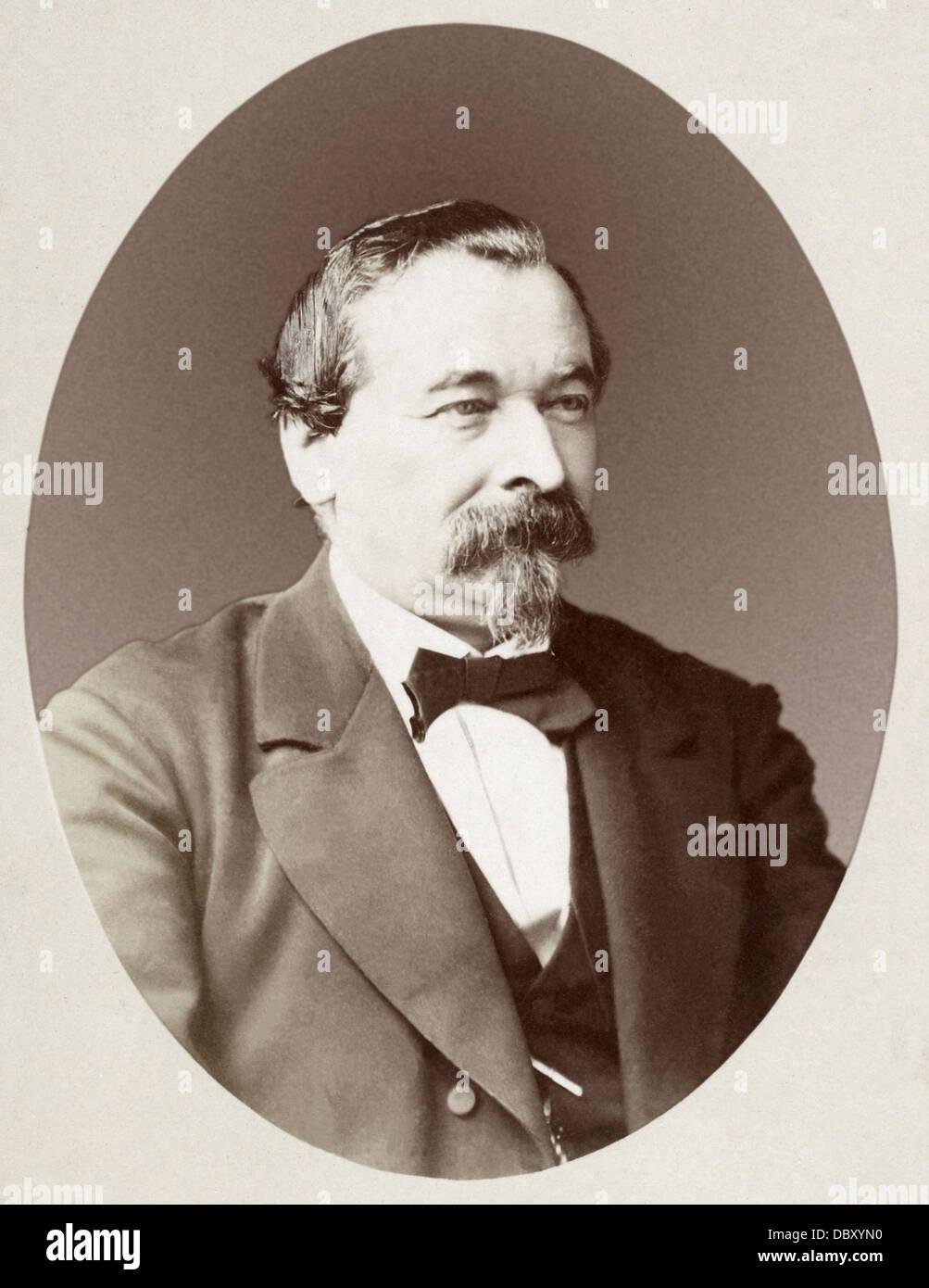 Georges Erhard Schieble (1823 - 1880), francese cartografo ed incisore. Immagini Stock