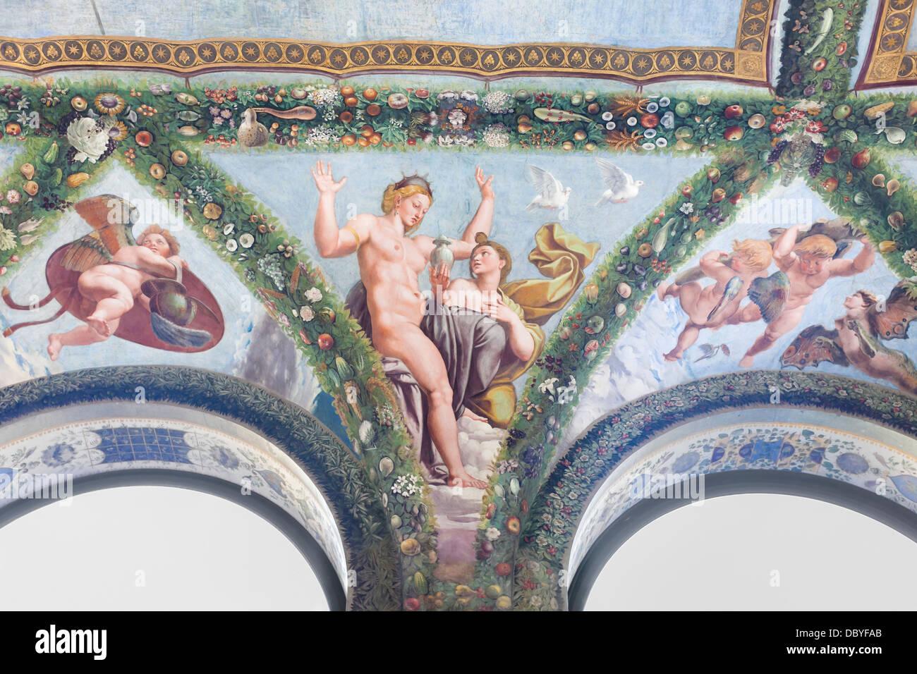 Psiche prima di Venere, Raffaello, Villa Farnesina, Roma, Italia Immagini Stock