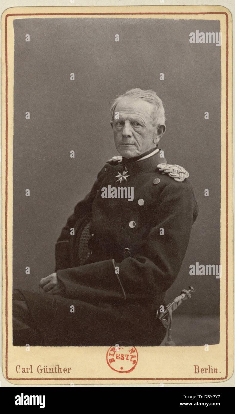 Helmuth Karl Bernhard von Moltke (1800-1891). Egli è stato il capo del generale prussiano personale durante Immagini Stock