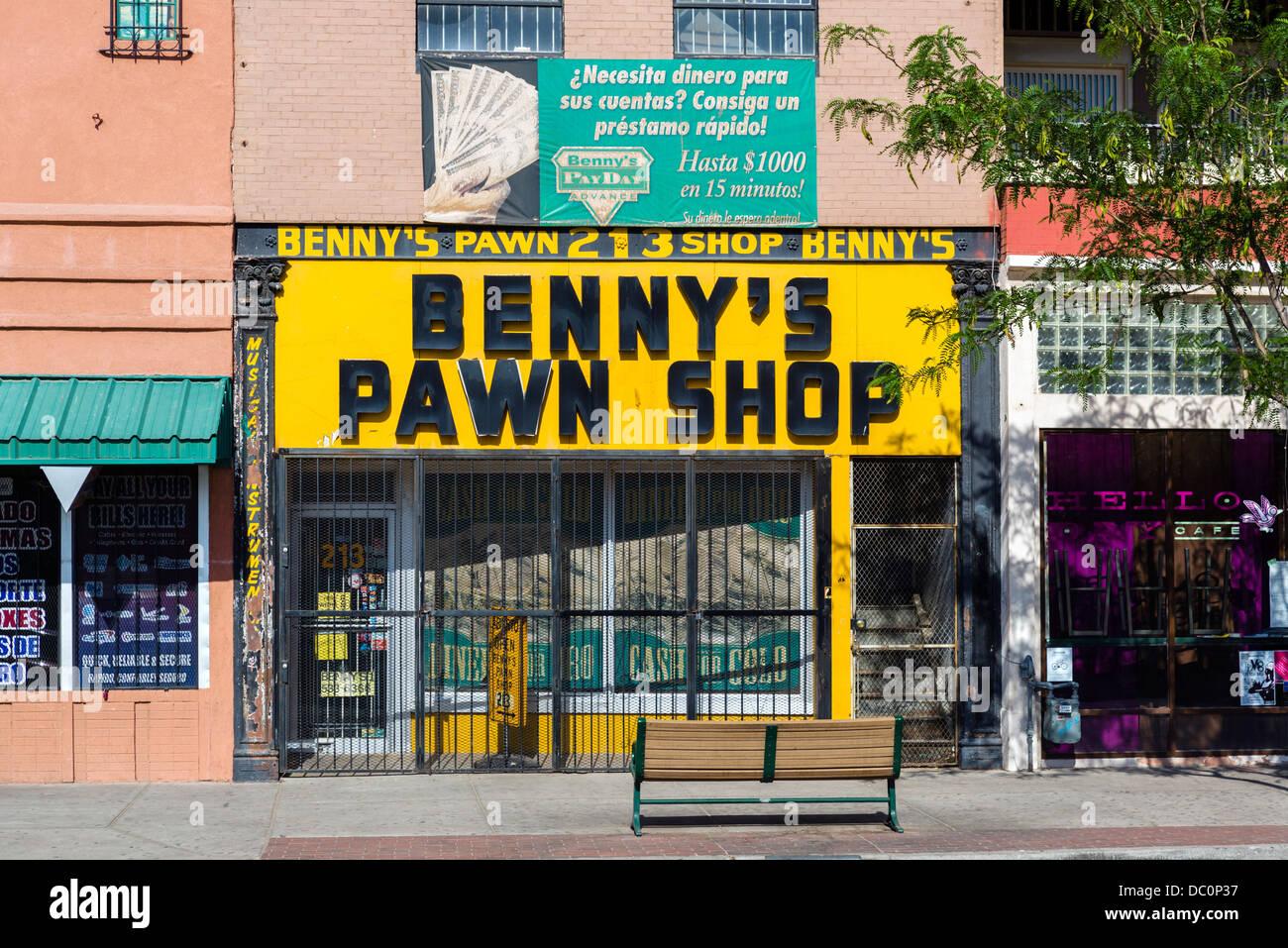 Negozio di pegni a El Paso, Texas, Stati Uniti d'America Immagini Stock