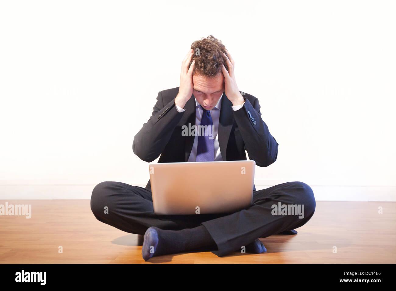 Imprenditore nel panico, problemi Immagini Stock