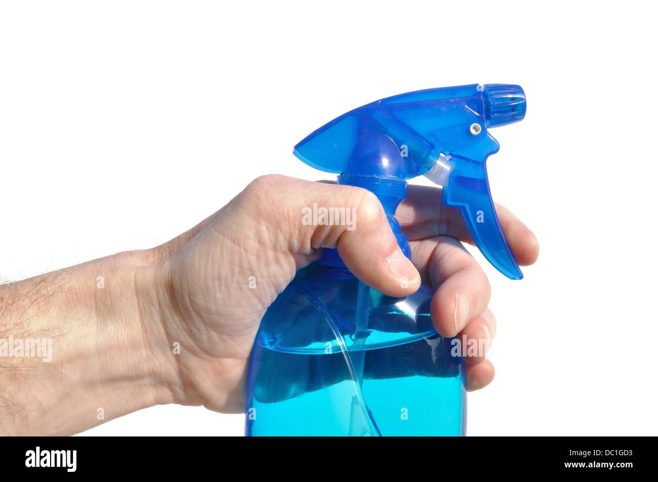 Spray flacone di pulizia Immagini Stock
