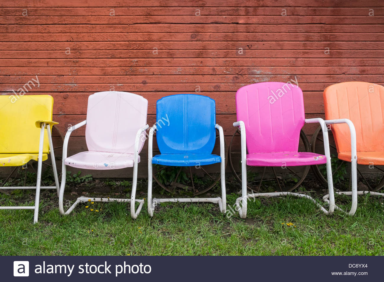 Sedie Di Plastica Colorate.Stati Uniti D America Oregon Hood River Colorate Sedie Di
