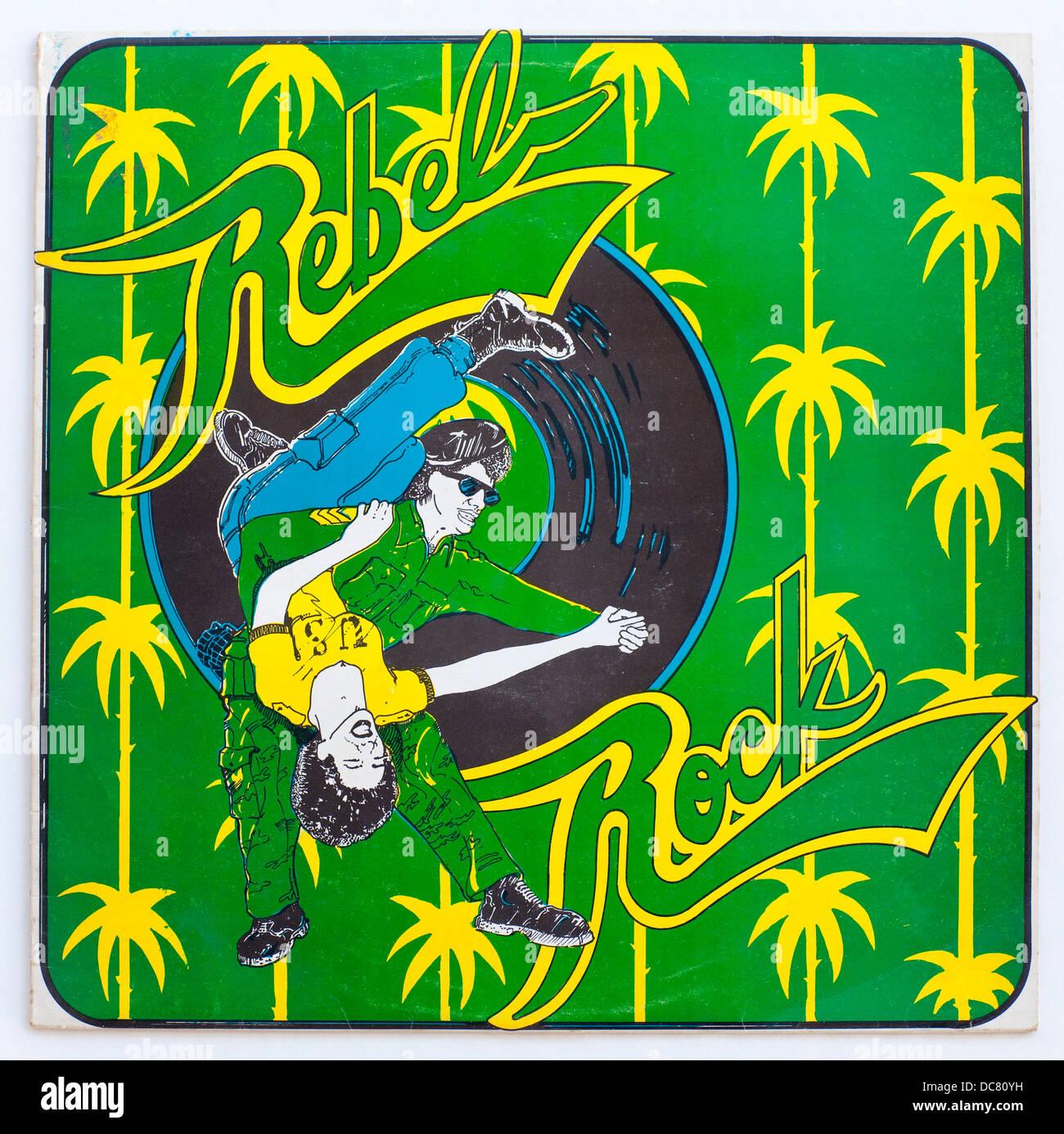 Terzo mondo tutte le grandi star - Rock ribelle, 1975 album sul terzo record mondiale Immagini Stock