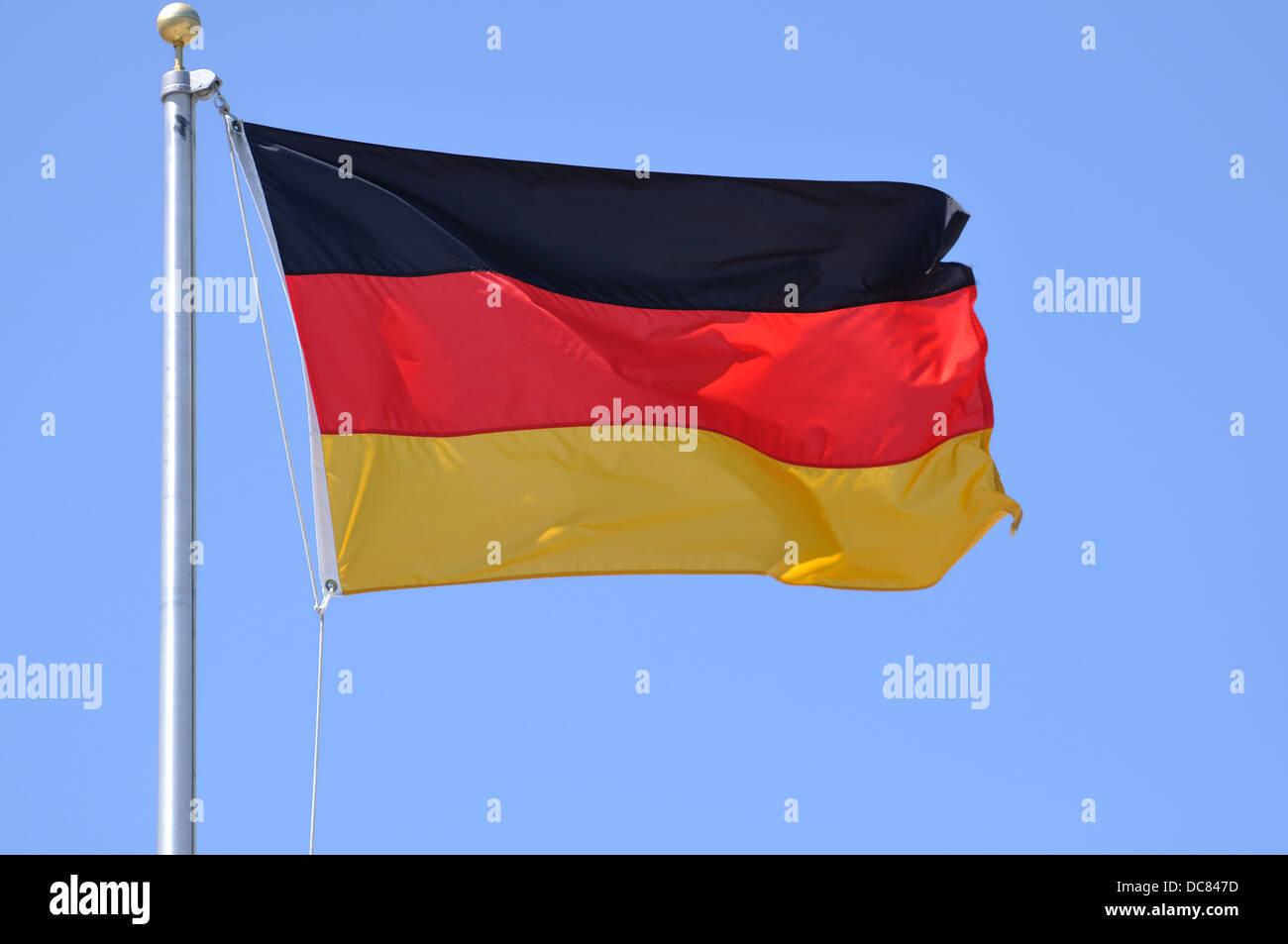 Bandiera tedesca Immagini Stock