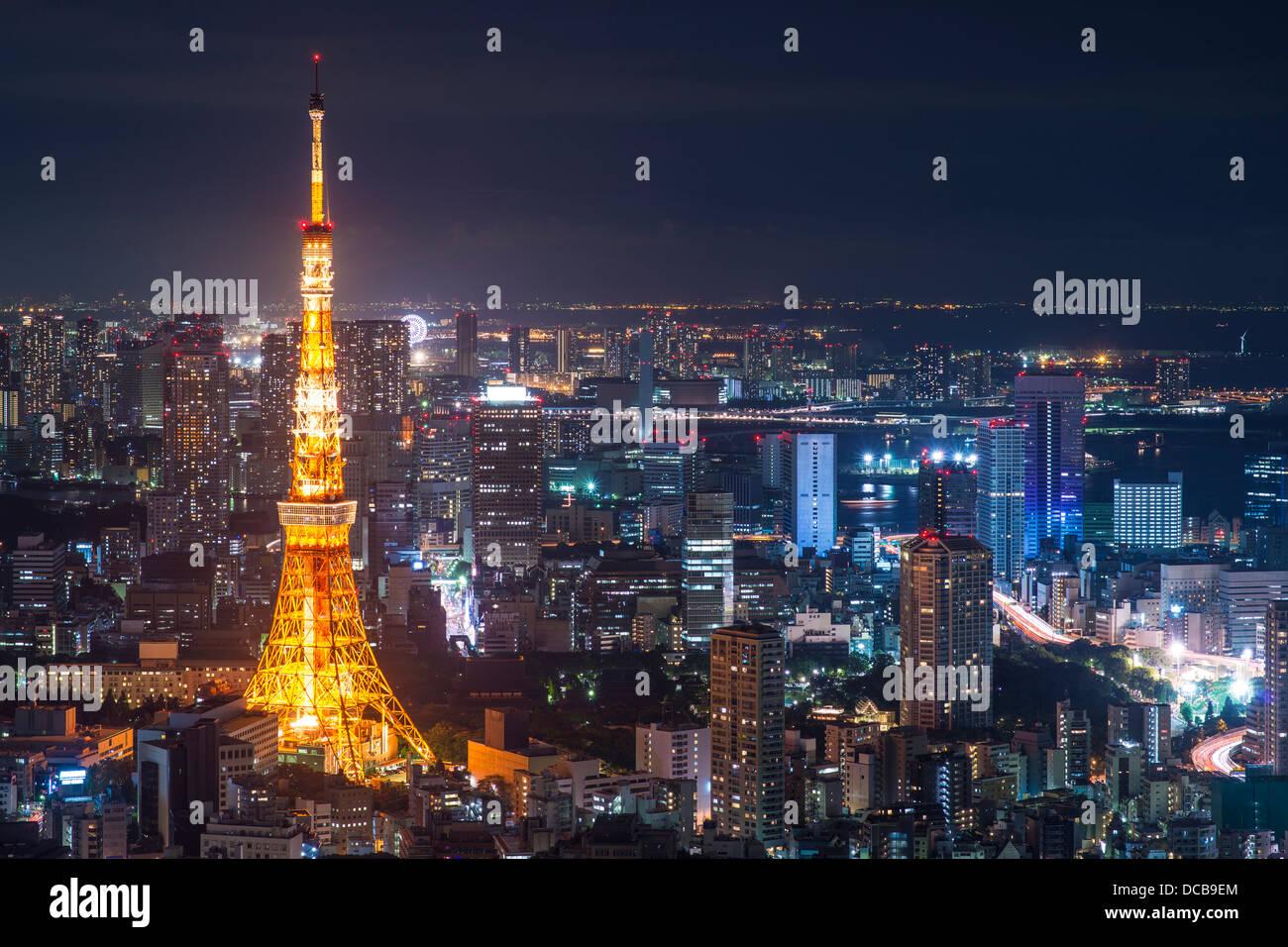 La Torre di Tokyo a Tokyo in Giappone. Immagini Stock
