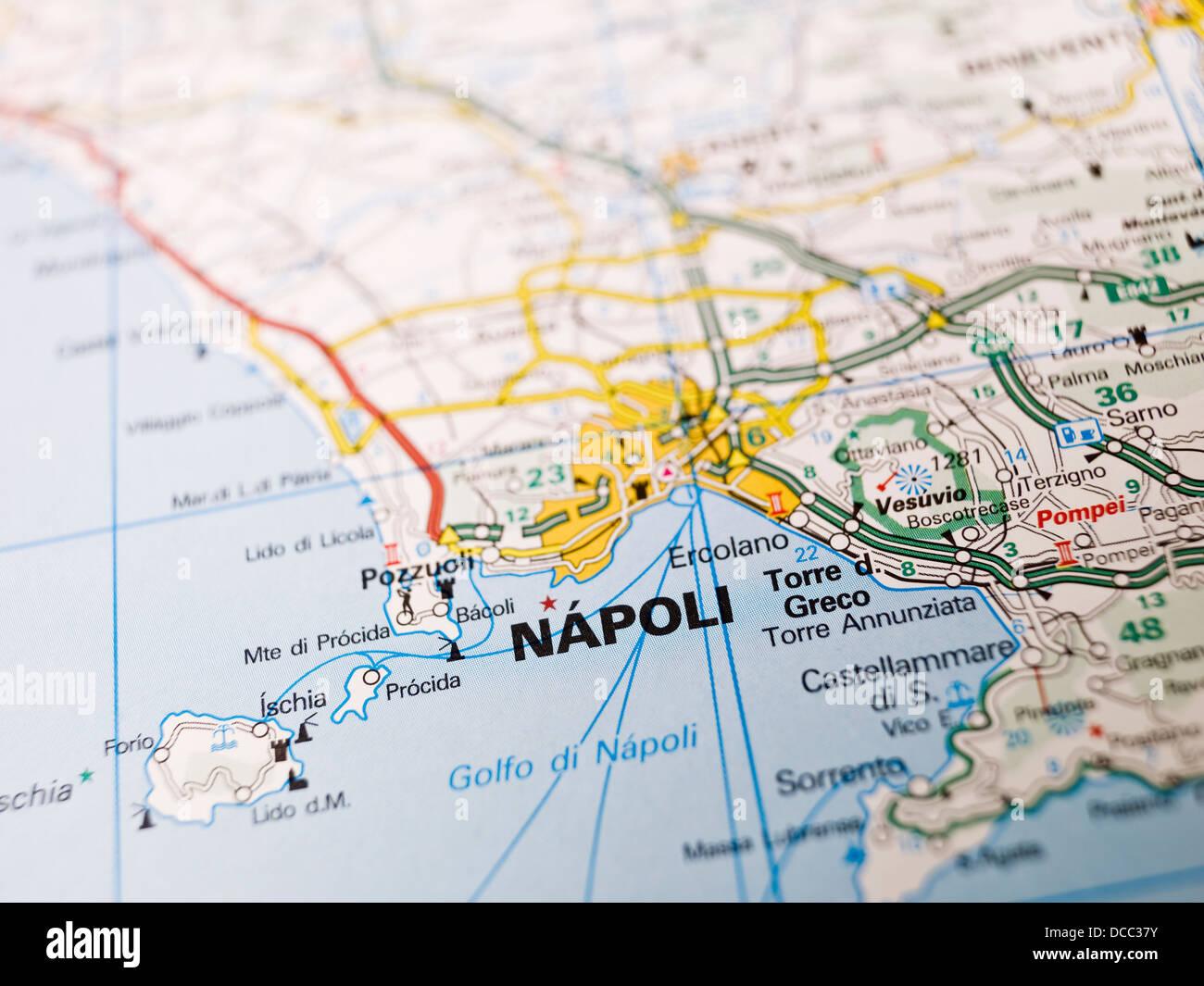 La Cartina Di Napoli.Mappa Di Napoli Foto Stock Alamy