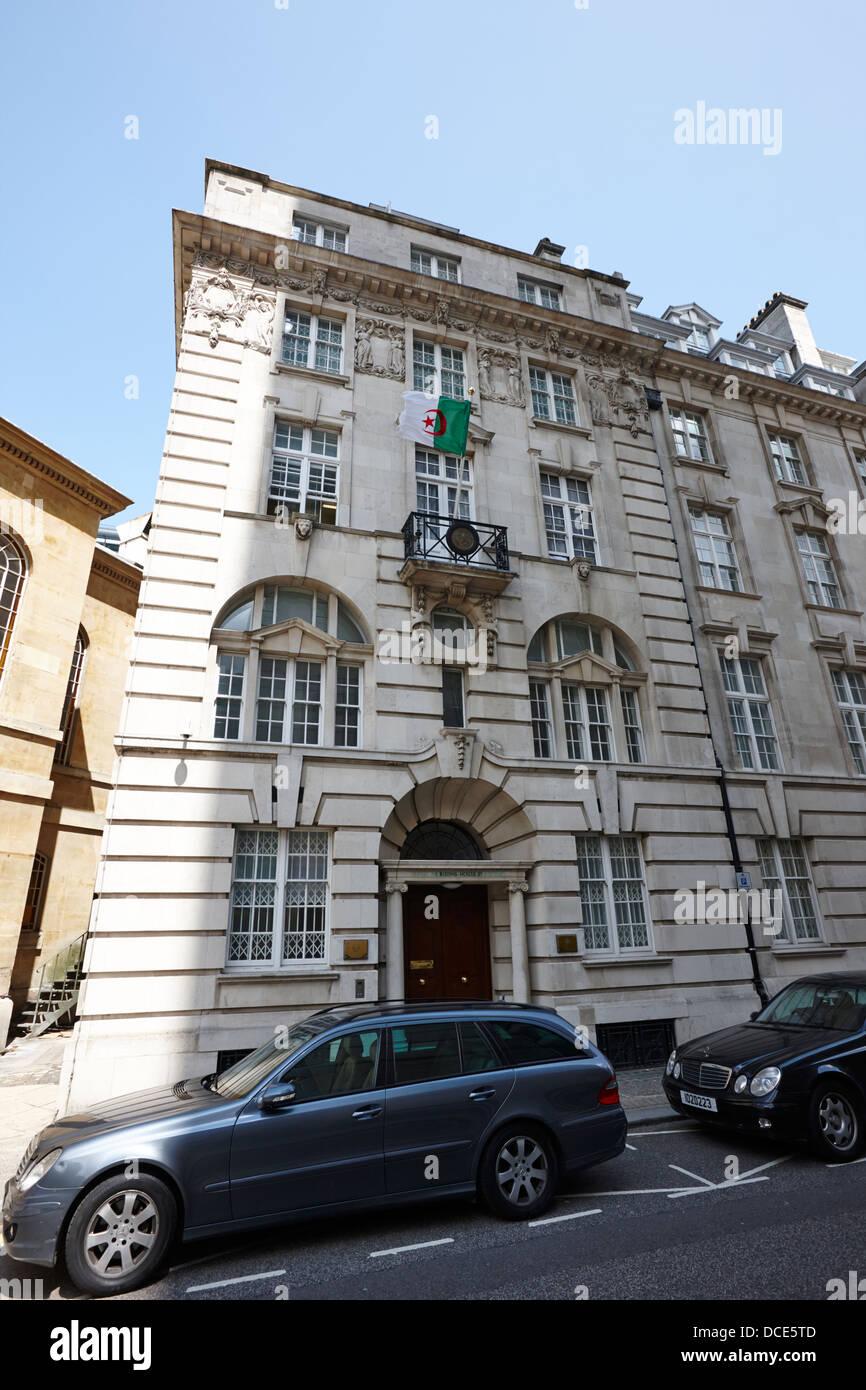 Ambasciata dei popoli della Repubblica democratica di Algeria Londra Inghilterra REGNO UNITO Immagini Stock