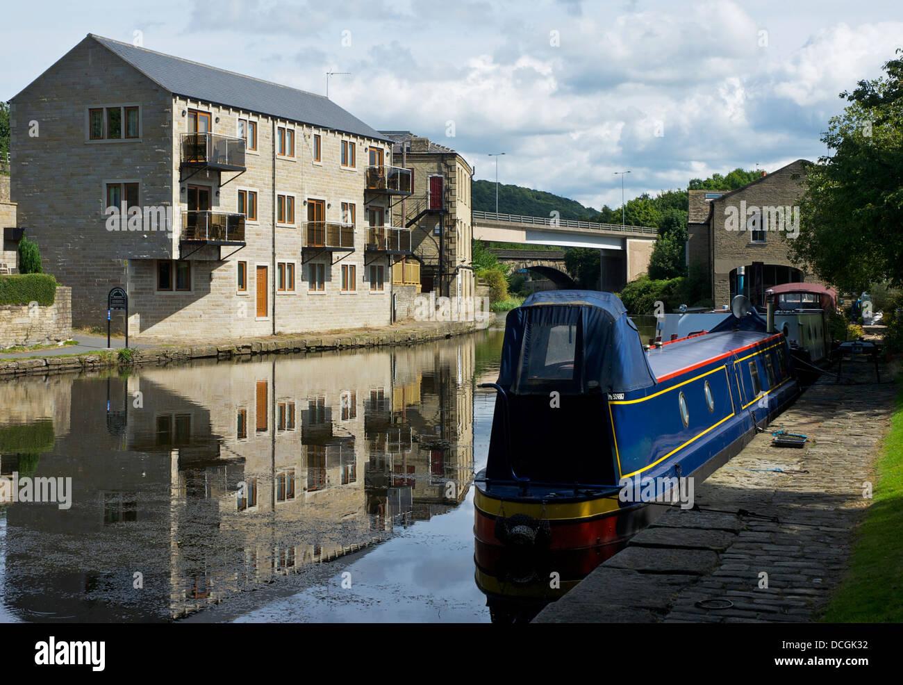 La Calder & Hebble Navigazione a Elland, West Yorkshire, Inghilterra, Regno Unito Immagini Stock