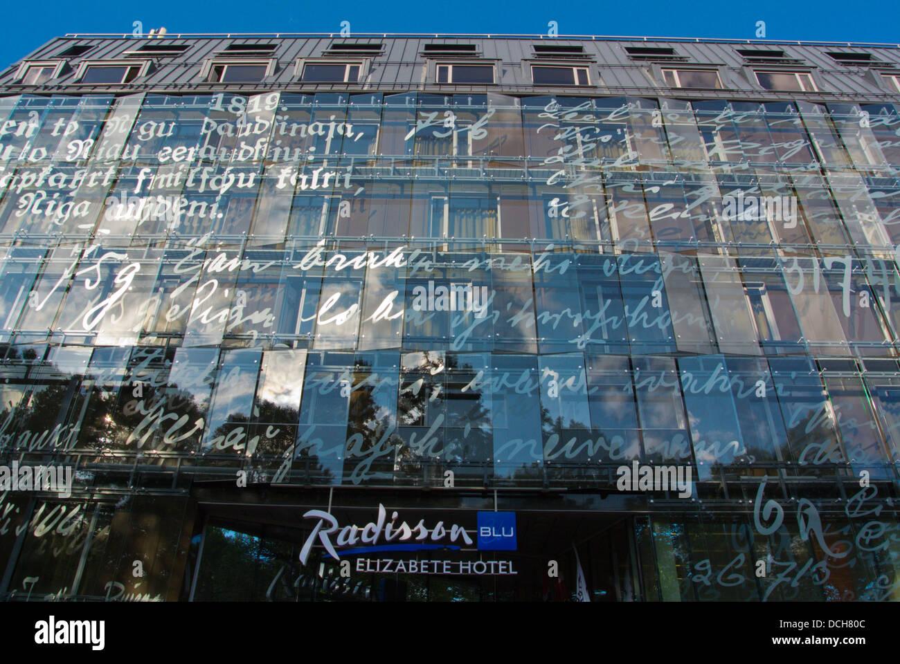 Radisson Blu Hotel Elizabete Riga centrale della Lettonia gli Stati Baltici nord europa Immagini Stock