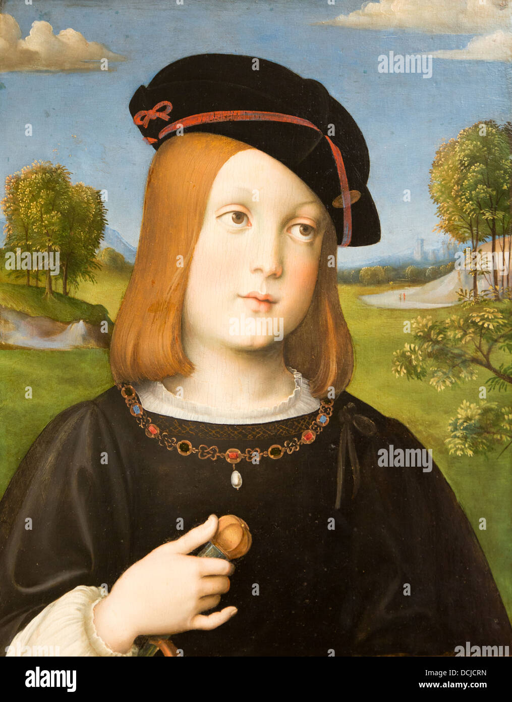 Xvi secolo - Frederigo Gonzaga, 1510 - Francesco Francia Philippe Sauvan-Magnet / Museo attivo Immagini Stock