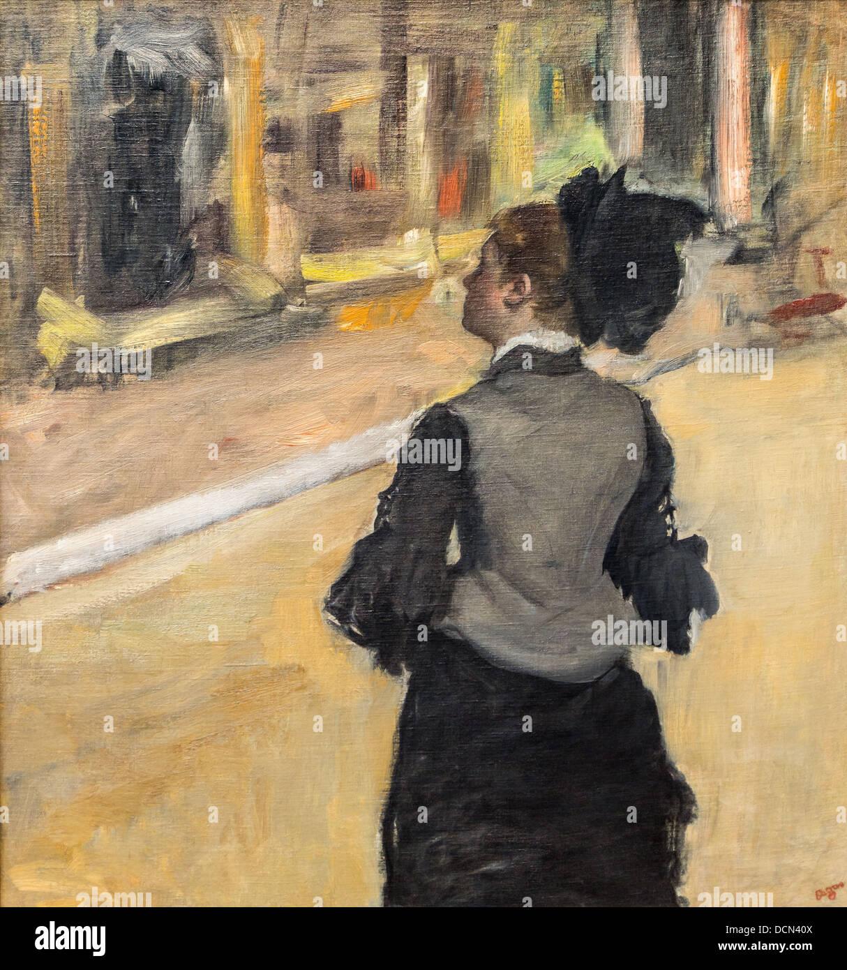 Xix secolo - Donna visto da dietro, tra 1879 e 1885 - Edgar Degas Philippe Sauvan-Magnet / Museo attivo Immagini Stock