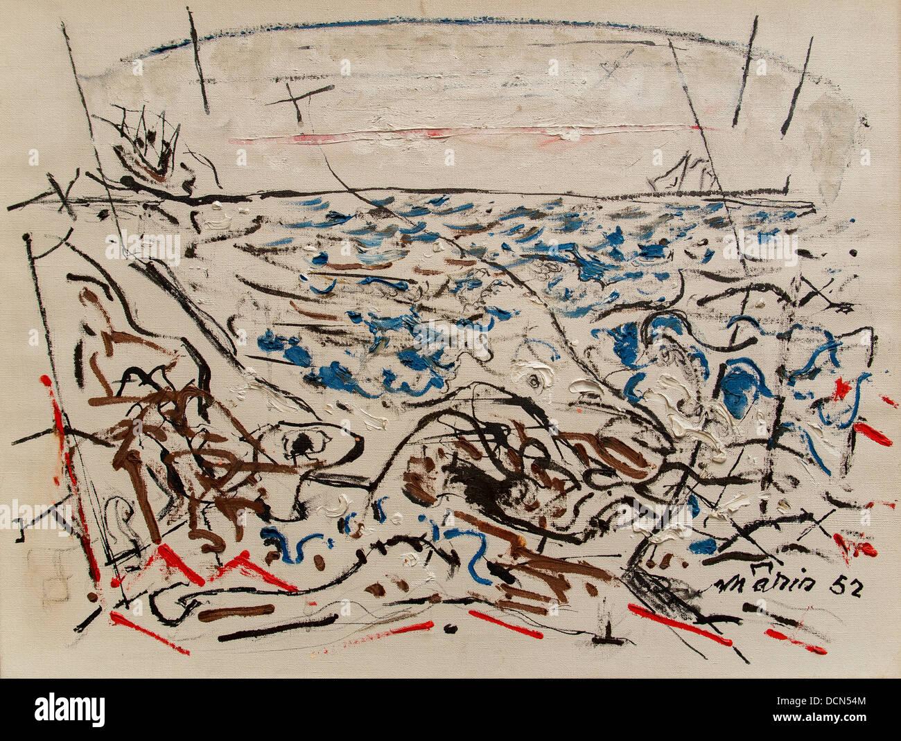 Xx secolo - Il mare scritta - Giovanni Marin (1952) Philippe Sauvan-Magnet / Museo attivo Immagini Stock