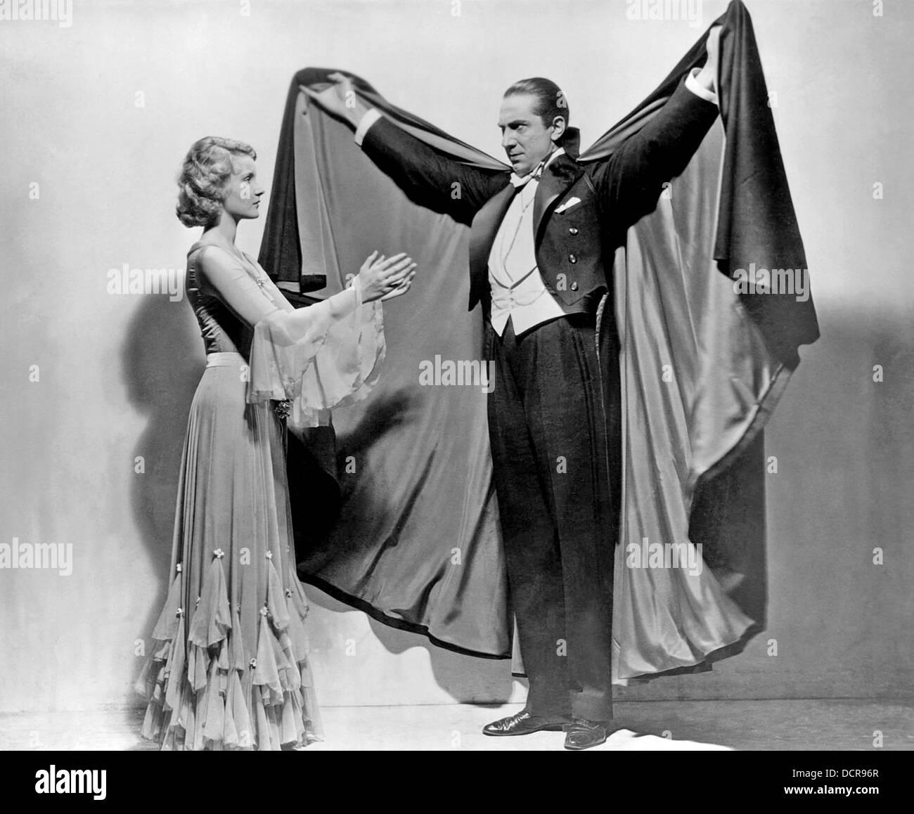 DRACULA 1931 Universal Pictures film con Bela Lugosi e Helen Chandler Immagini Stock