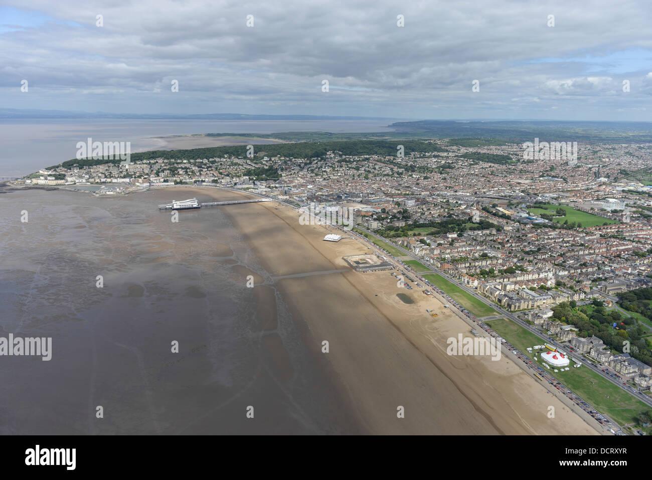 Fotografia aerea della Weston-Super-Mare Immagini Stock
