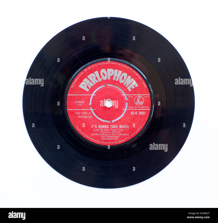 Shane Fenton e il Fentones - sta andando prendere Magic, 1962 B-lato su Parlophone Immagini Stock