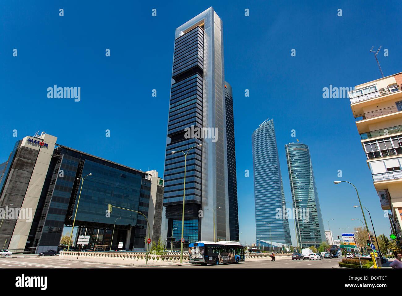 Madrid, Quartiere Finanziario Immagini Stock
