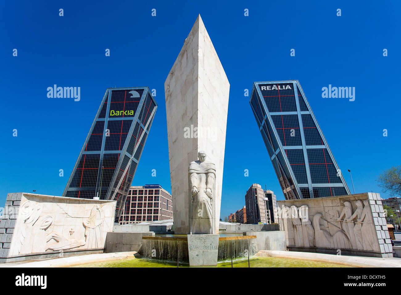 Madrid, Puerta de Europa Immagini Stock