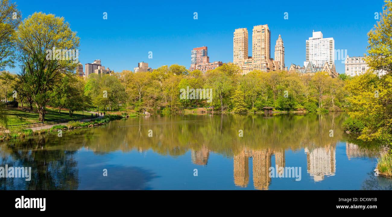 La città di New York, Central Park Immagini Stock